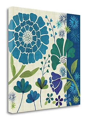 Tangletown Fine Art 'Blue Garden II' Graphic Art Print on Wrapped Canvas; 30'' H x 30'' W