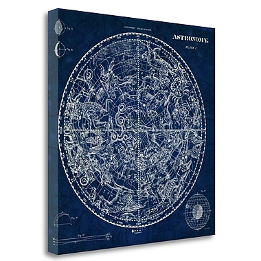 Tangletown Fine Art 'Celestial Blueprint' Graphic Art Print on Wrapped Canvas; 20'' H x 20'' W