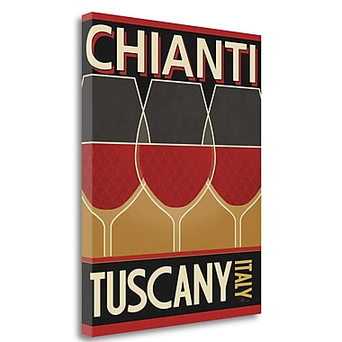 Tangletown Fine Art 'Chianti' Graphic Art Print on Canvas; 32'' H x 26'' W