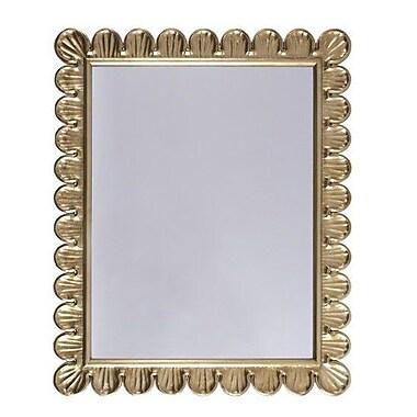 WorldsAway Accent Mirror; Gold Leaf