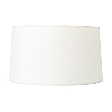 WorldsAway 17'' Silk Drum Lamp Shade; Cream