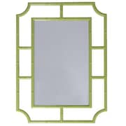 WorldsAway Accent Mirror; Lime Green Lacquer
