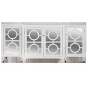 WorldsAway 3-Piece Buffet Table; White Lacquer