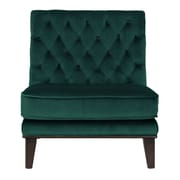 Brayden Studio Wille Tufted Velvet Slipper Chair; Green