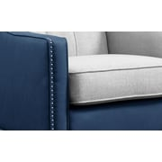 Darby Home Co Kaven Linen Leatherette Nailhead Club Chair; Blue