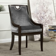 Darby Home Co Adebay Nailhead Upholstered Dining Chair; Gray