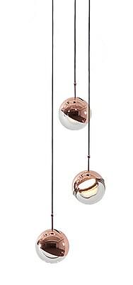 SeedDesign Dora 3-Light Cluster Pendant; Copper