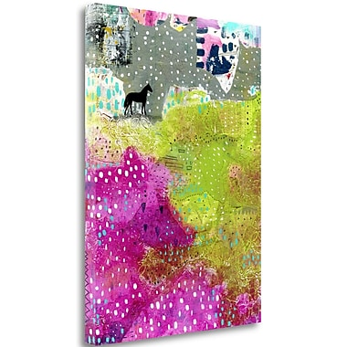 Tangletown Fine Art 'Fuchsia and Lime Pasture' Graphic Art Print on Canvas; 34'' H x 25'' W