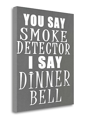 Tangletown Fine Art 'Dinner Bell' Textual Art on Wrapped Canvas; 26'' H x 21'' W