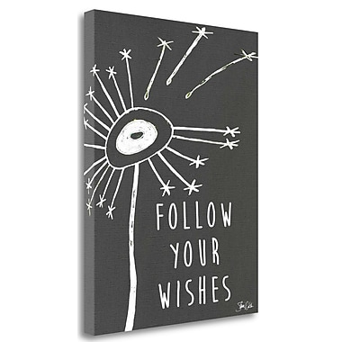 Tangletown Fine Art 'Follow Your Wishes' Graphic Art Print on Canvas; 37'' H x 28'' W