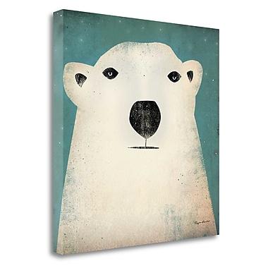 Tangletown Fine Art 'Polar Bear' by Ryan Fowler Graphic Art on Wrapped Canvas; 20'' H x 20'' W