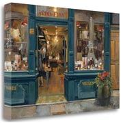 Tangletown Fine Art 'Parisian Wine Shop' Print on Wrapped Canvas; 32'' H x 48'' W