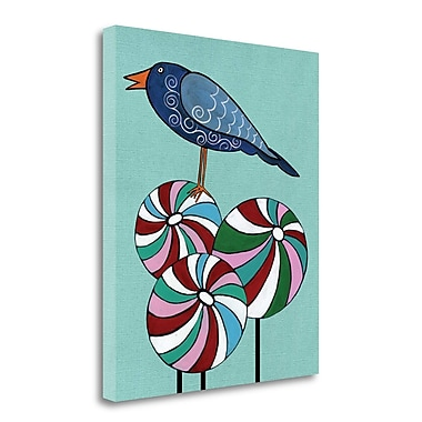 Tangletown Fine Art 'Bluebird and Lollypops I' Graphic Art Print on Wrapped Canvas; 30'' H x 25'' W