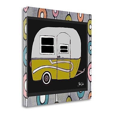 Tangletown Fine Art 'Camper Green' Graphic Art Print on Wrapped Canvas; 18'' H x 18'' W