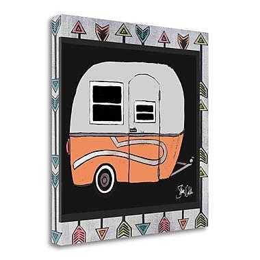 Tangletown Fine Art Camper - Orange' Graphic Art Print on Canvas; 35'' H x 35'' W