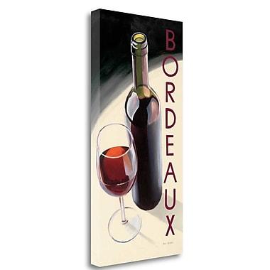 Tangletown Fine Art 'Bordeaux' Graphic Art Print on Wrapped Canvas; 48'' H x 24'' W