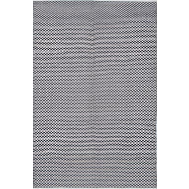 Gracie Oaks Loucas Hand Woven Wool Cream/Dark Gray Area Rug