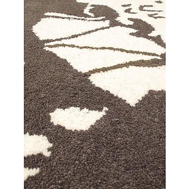 Latitude Run Danville Hand Tufted Wool Cream/Emerald Green Area Rug
