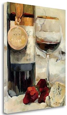 Tangletown Fine Art 'Award Winning Wine II' Print on Wrapped Canvas; 28'' H x 23'' W