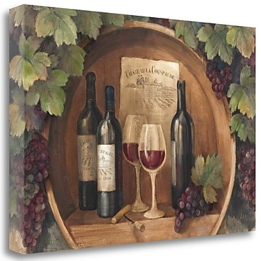 Tangletown Fine Art 'At the Winery Wag' Print on Wrapped Canvas; 32'' H x 48'' W