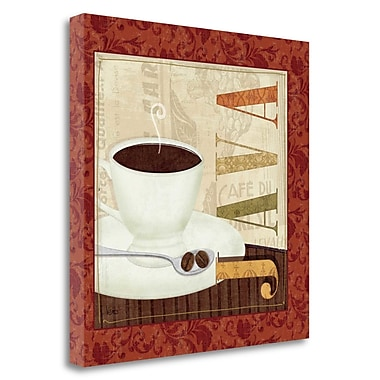 Tangletown Fine Art 'Coffee Cup I' Vintage Advertisement on Wrapped Canvas; 20'' H x 20'' W