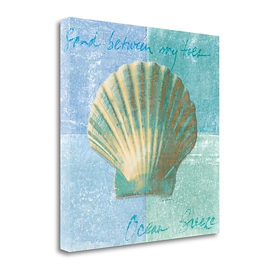 Tangletown Fine Art 'Calm Seas' by Sue Schlabach Painting Print on Wrapped Canvas; 20'' H x 20'' W