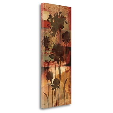 Tangletown Fine Art 'Autumn Silhouette II' Print on Wrapped Canvas; 32'' H x 13'' W