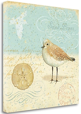 Tangletown Fine Art 'Natural Seashore II' Graphic Art Print on Wrapped Canvas; 24'' H x 24'' W