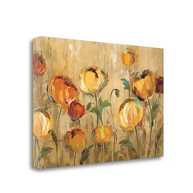 Tangletown Fine Art 'Joyful Ranunculi' Print on Wrapped Canvas; 16'' H x 24'' W