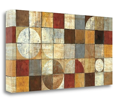 Tangletown Fine Art 'Tango Neutral' by Mike Schick Graphic Art on Wrapped Canvas; 15'' H x 29'' W
