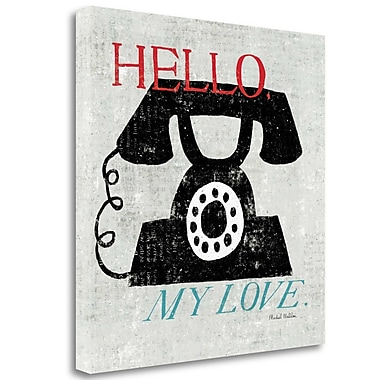 Tangletown Fine Art 'Vintage Desktop Phone' Graphic Art Print on Wrapped Canvas; 24'' H x 24'' W