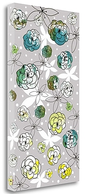 Tangletown Fine Art Gray Floral' Graphic Art Print on Canvas; 39'' H x 22'' W