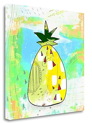 Tangletown Fine Art Hot Pineapple' Graphic Art Print on Canvas; 35'' H x 35'' W