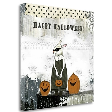 Tangletown Fine Art Happy Halloween Rabbit' Graphic Art Print on Canvas; 20'' H x 20'' W