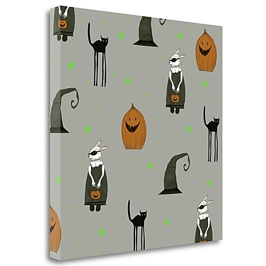 Tangletown Fine Art 'Halloween Pattern' Graphic Art Print on Wrapped Canvas; 35'' H x 35'' W