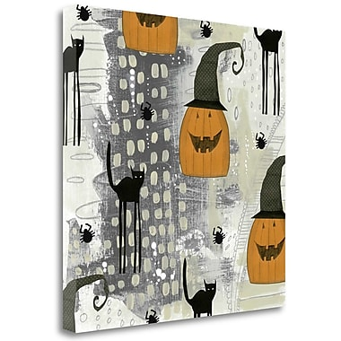 Tangletown Fine Art 'Halloween Pattern 2' Graphic Art Print on Wrapped Canvas; 20'' H x 20'' W