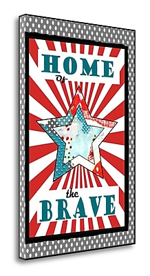 Tangletown Fine Art Home of the Brave' Graphic Art Print on Canvas; 48'' H x 33'' W