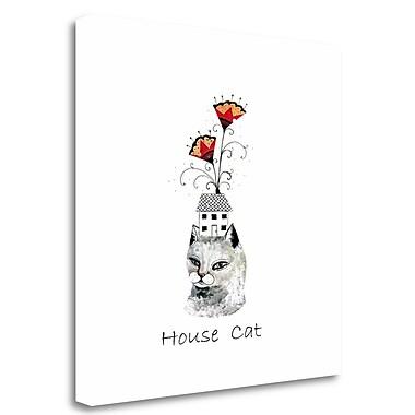 Tangletown Fine Art House Cat' Graphic Art Print on Canvas; 18'' H x 18'' W