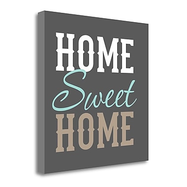 Tangletown Fine Art 'Home Sweet Home' Textual Art on Canvas; 23'' H x 23'' W