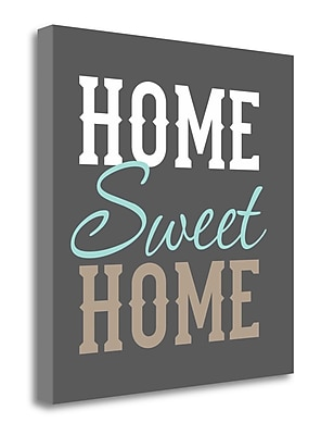 Tangletown Fine Art 'Home Sweet Home' Textual Art on Canvas; 26'' H x 26'' W