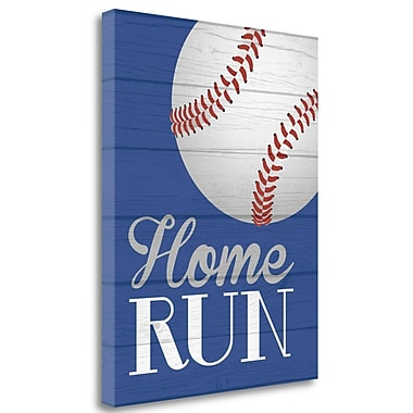 Tangletown Fine Art 'Home Run' Graphic Art Print on Wrapped Canvas; 28'' H x 22'' W