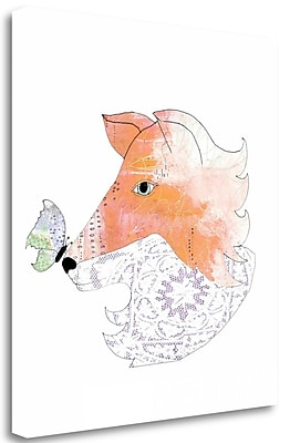 Tangletown Fine Art Lace Fox' Graphic Art Print on Canvas; 24'' H x 21'' W