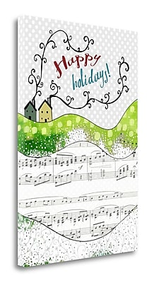Tangletown Fine Art 'Happy Holidays Houses' Graphic Art Print on Wrapped Canvas; 29'' H x 20'' W