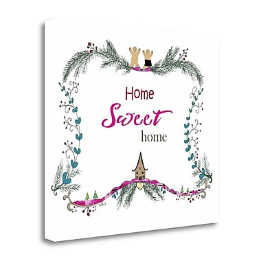 Tangletown Fine Art 'Home Sweet Home Gingerbread' Textual Art on Canvas; 25'' H x 28'' W