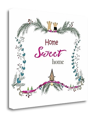 Tangletown Fine Art 'Home Sweet Home Gingerbread' Textual Art on Canvas; 35'' H x 40'' W