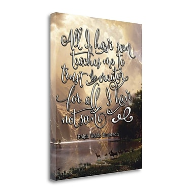 Tangletown Fine Art 'All I Have Seen' Textual Art on Wrapped Canvas; 28'' H x 22'' W