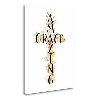 Tangletown Fine Art 'Amazing Grace Floral' Textual Art on Canvas; 22'' H x 18'' W