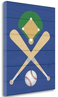 Tangletown Fine Art Baseball Ball' Graphic Art Print on Canvas; 20'' H x 16'' W