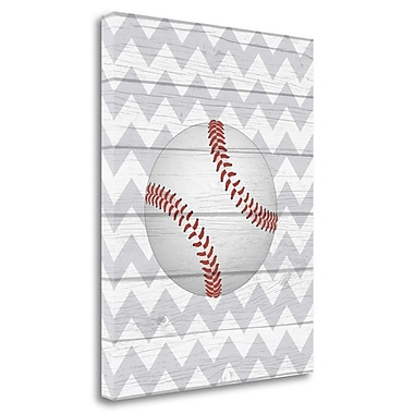 Tangletown Fine Art 'Baseball' Graphic Art Print on Wrapped Canvas; 20'' H x 16'' W