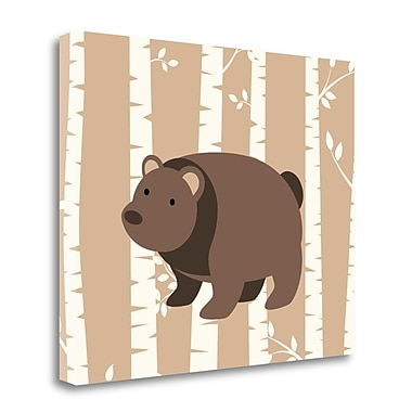 Tangletown Fine Art Bear Birch I' Graphic Art Print on Canvas; 16'' H x 20'' W
